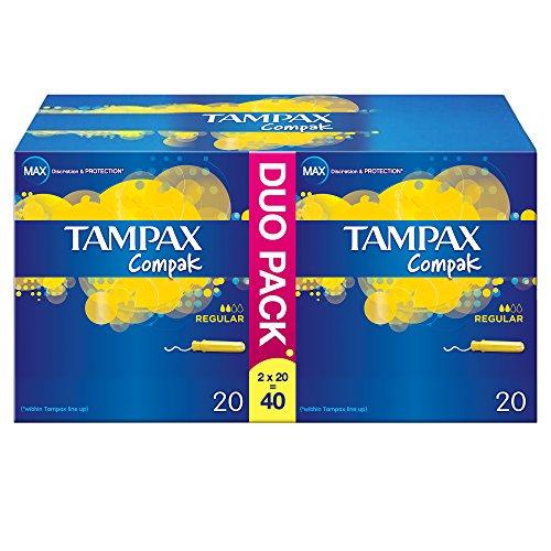 Tampax Centraline percorso regolari applicatori Tamponi - Confezione da 40