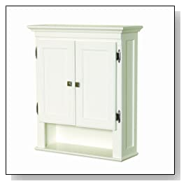 Wooden Wall Cabinet in White