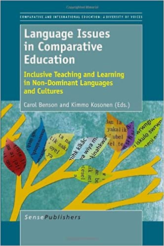 Book cover: language issues in comparative education