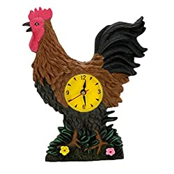 Rooster Kitchen Clock with Crowing Sound