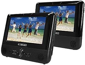 Curtis 7-Inch Dual  Screen Portable DVD DivX