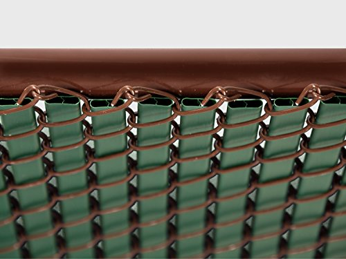 Green Double Wall Bottom Lock Fence Slat For 4ft Chain