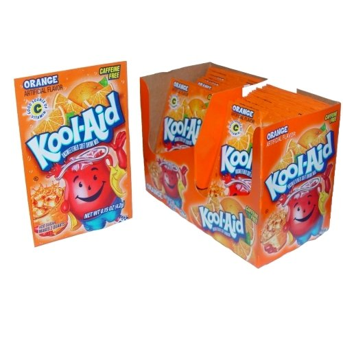 Kool-Aid Orange Unsweetened Soft Drink Mix: 0.15-Ounce Envelopes (Pack of 48)