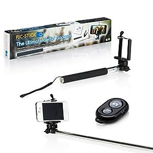 the original pic stick extendable monopod arm selfie pole bluetooth remote for iphone. Black Bedroom Furniture Sets. Home Design Ideas