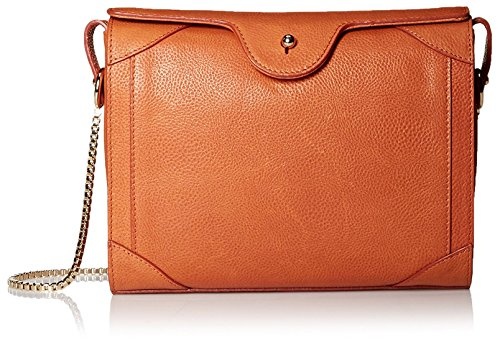 Carven-Womens-Grained-Leather-Bag-Tangerine