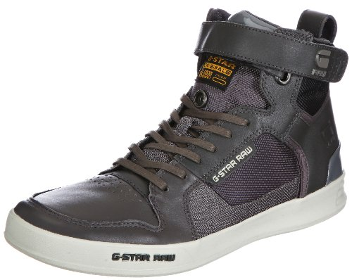 G-Star YARD Bullion High Mens Gray Grau (Dark Grey Lthr & Textile 477) Size: 10 (44 EU)