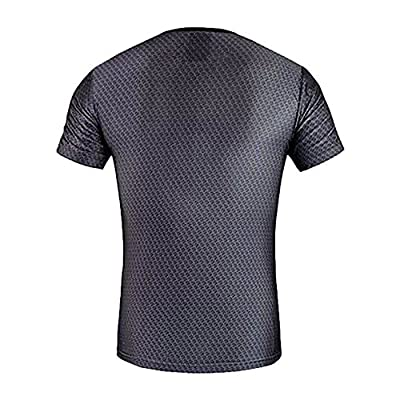 Fitness T Shirt Superman Compression Breathable T-shirt Men's Sports Workout Clothes