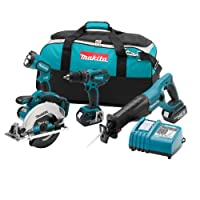 Makita LXT406 18-Volt LXT Lithium-Ion Cordless 4-Piece Combo Kit