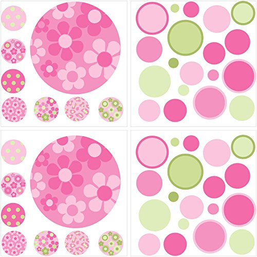 Wall Pops Pink/Green Gone Dotty Wall Art Kit