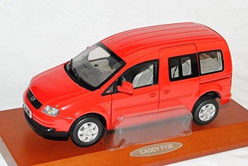 VW-Volkswagen-Caddy-Van-Rot-2003-2010-124-PAudi-Modell-Auto-mit-individiuellem-Wunschkennzeichen