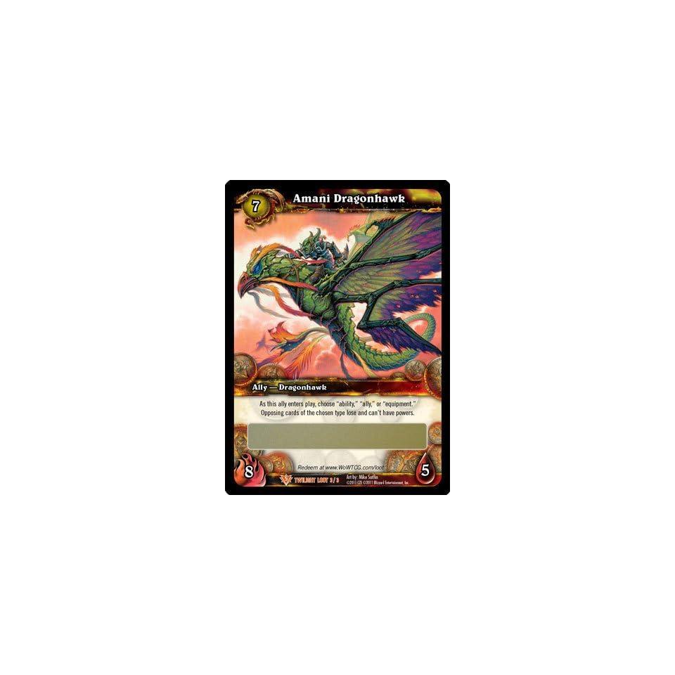 World of Warcraft Amani Dragonhawk Loot Card UNSCRATCHED WoW