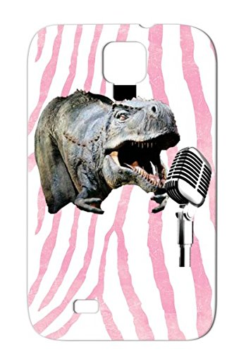 Dinomic Music Hip Hop Mic Hip Hop Dino Beast Mode Animal Microphone Dinosaur Dinosaur Gray Case For Sumsang Galaxy S4 Shock-Absorbent