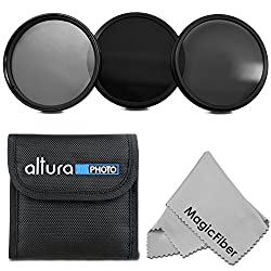 52MM Neutral Density Professional Photography Filter Set (ND2 ND4 ND8) + Premium MagicFiber Microfiber Cleaning Cloth