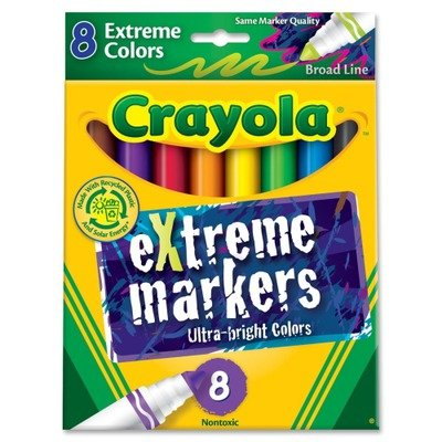 Crayola Ultra Bright Extreme Markers - Box of 8 (588175) - 1