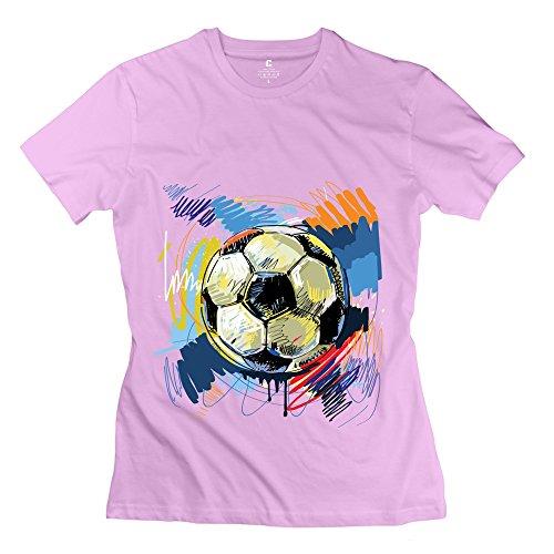 Jeff Women'S Graffiti Football Shirt Pink X-Small
