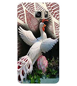 ColourCraft Beautiful White Peacock Design Back Case Cover for SAMSUNG GALAXY NOTE 7 DUOS