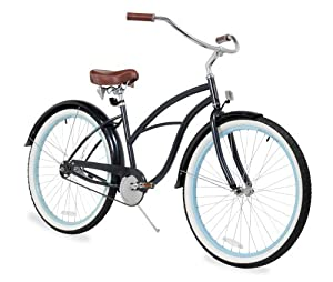 sixthreezero Women's 26-Inch Beach Cruiser Bicycle, 1-Speed, Classic Dark Blue