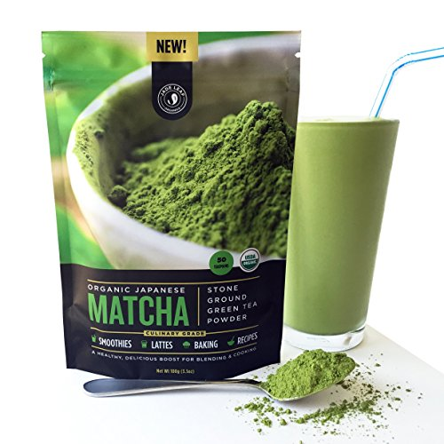 Jade Leaf - Organic Japanese Matcha Green Tea Powder, Culinary Grade (For Blending & Baking) - [100g Value Size] (Matcha Organic Green Tea Powder compare prices)