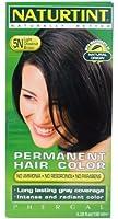 Naturtint Coloration capillaire naturelle permanente - Ingrédients végétaux actifs - 100% couvrant - Couleur 5N Châtain clair