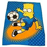 Kids/Childrens Bart Simpsons, The Simpsons Football Fleece Blanket/Throw over Blanket Bedding