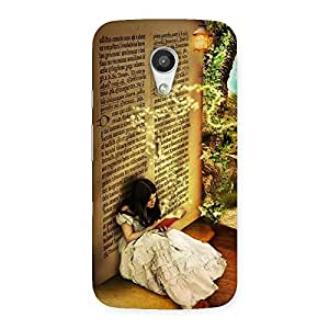 Secrate Book Multicolor Back Case Cover for Moto G 2nd Gen