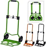 70KG ADJUSTABLE METAL FOLDING FOLDABLE HAND SACK TRUCK TROLLEY CART HEAVY DUTY (BLACK)