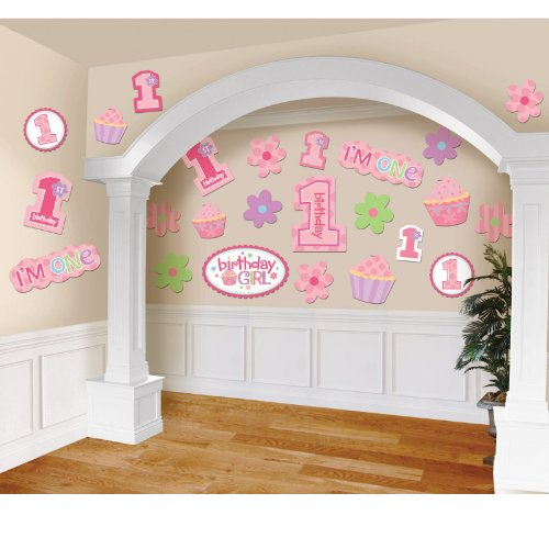 Birthday 'Sweet Lil' Cupcake Girl' Cutouts (30pc)
