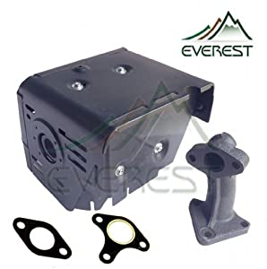 Muffler Exhaust Assembly With Manifold 8hp & 9hp Fits Honda Gx240 Gx270 from EVEREST PARTS SUPPLIES