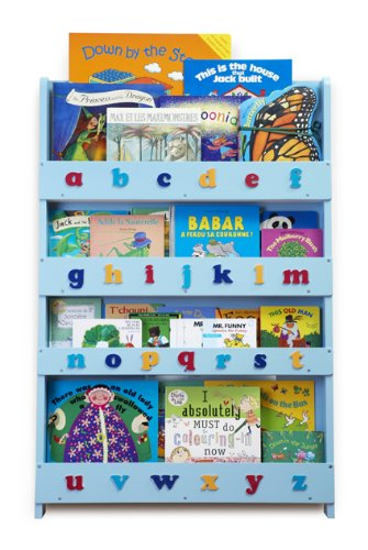 Tidy Books Children's Bookcase (Blue, Lowercase)