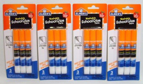 Elmer'S Washable School Glue Pens With Precision Tips #1 Teacher Brand (3-Pens Per Pack) - 4 Packs front-476606