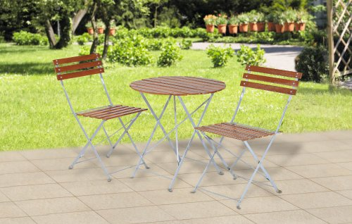 bistro set mit 1 biergartentisch und 2 biergartenst hle f r terasse balkon garten exclusive. Black Bedroom Furniture Sets. Home Design Ideas