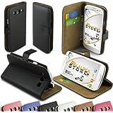 Alaskaprint - Glatt Flip Schutzhülle Schwarz für Samsung Galaxy S3 i9300 i9305 G3, Kunstleder Cover mit Magnetverschluss, Schutzhülle, Etui Case .