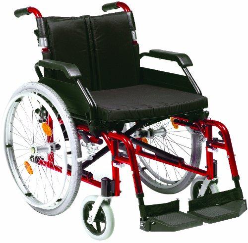 Drive Medical XSAWCSP20REDST Rollstuhl, mit Kissen, eigener Antrieb, Vollreifen, Rot
