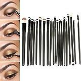 GYBest 20pcs Makeup Eye Brushes Cosmetic Set Powder Foundation Eyeshadow Brush, Eye Shadow Brush, Eyeliner Lip Cosmetic Brushes, Mascara Brush, Flat Brush Comestic Set