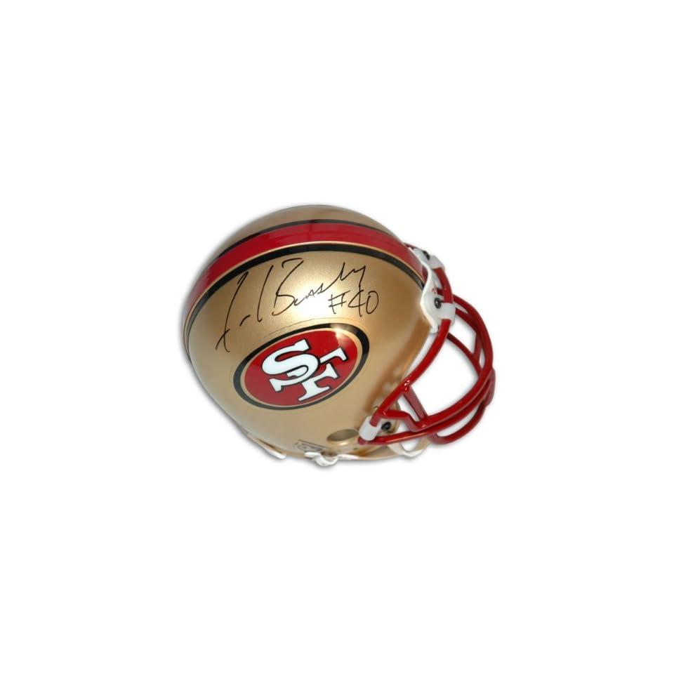 Fred Beasley Autographed San Francisco 49ers Mini Helmet