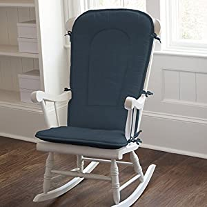 Solid Navy Rocking Chair Pad Baby