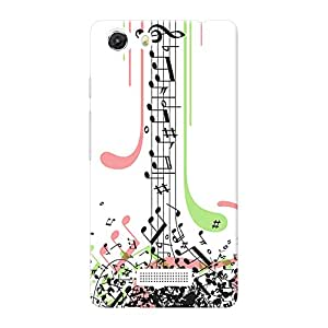INKIF Music Lover Abstract Designer Case Printed Mobile Back Cover for Micromax Unite 3 Q372 (Multicolor)