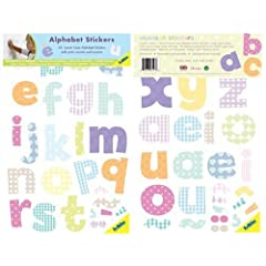 FunToSee Alphabet Nursery and Bedroom Wall Decals Alphabet