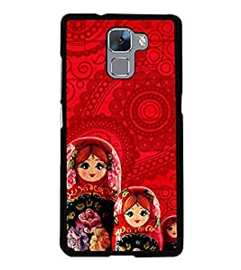 Love Couple 2D Hard Polycarbonate Designer Back Case Cover for Huawei Honor 7 :: Huawei Honor 7 Enhanced Edition :: Huawei Honor 7 Dual SIM