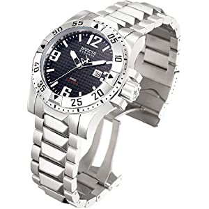 Men's Stainless Steel Excursion Diver Black Dial Diver