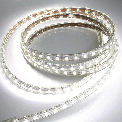 5 meter 230v led streifen neutral wei 5m band leiste k rzbar 5000k ip44 stripe dimmbar licht. Black Bedroom Furniture Sets. Home Design Ideas