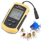 Eoncore Portable LCD display with LED back-lighting Fish Finder Depth Sonar Sounder Alarm Transducer Fishfinder 328Feet