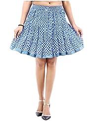 Sunshine Enterprises Women's Cotton Wrap Skirt (White) - B01HELQBLE