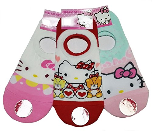 JJMax-Womens-Hello-Kitty-Cute-Cotton-Blend-Ankle-Socks-Set