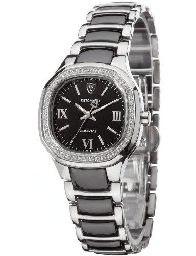 Detomaso CATERINA Black DT3014-B Ladies DT3014-B - Reloj analógico de cuarzo para mujer, correa de cerámica multicolor