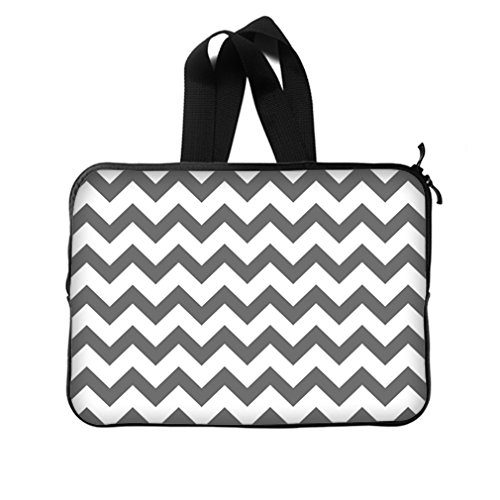 Fashion Chevron Classic Grey And White Laptop Bag New Laptop Sleeve - 15,15.6 Inch(Twin Sides) Laptop Sleeve Bags front-948040