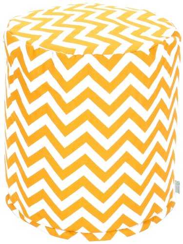 Majestic Home Goods Chevron Pouf, Small, Yellow