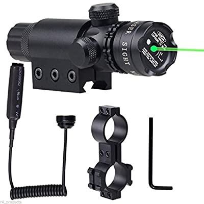 Shockproof 532nm Tactical Green Dot Laser Sight Rifle Gun Scope Rail and Barrel Mounts Cap Pressure Switch by cnbestvendor