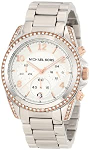 Michael Kors Women's MK5459 Blair Silver & Rose Gold Watch