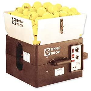 Tennis Tutor Tennis Ball Machine with Heavy Duty Battery